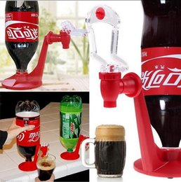 Wholesale Wholesale Drinking Gadgets - Saver Refrigerator Soda Dispenser Bottle Coke Upside Down Drinking Cola Soft Drink Dispenser Party Bar Kitchen Gadgets Soda Tap 200 OOA2497