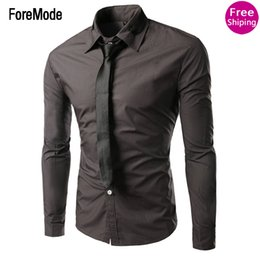 Wholesale Long Dress Import - Wholesale-Hot 2016 new silk clothing brand men's long-sleeved shirt men lapel shirt dress shirt imports, free shipping