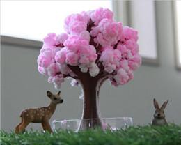 2019 alberi crescenti iWish 2017 Visual Magical Artificiale Sakura Alberi di Carta Albero In Crescita Di Natale Desktop Cherry Blossom Magia Bambini Giocattoli Per Bambini Regalo 5 PZ alberi crescenti economici
