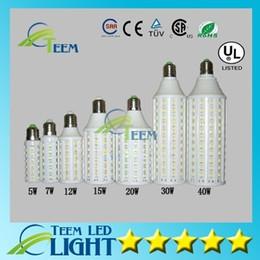 Wholesale E27 Corn Down - Led Corn light E27 E14 B22 SMD 5050 85-265V 5W 7W 12W 15W 20W 30W 40W 4000LM LED bulb down Lighting Lamp 100100