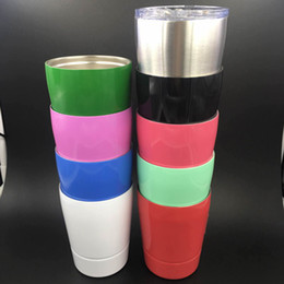 Wholesale Green Lids - 2017 new 9OZ stainless steel cups 9 colors 9OZ non-vacuum tumbler outdoor Hydration Gear car cups with lids and straws