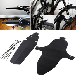 Wholesale Road Bike Front - 2pcs Road Bike Fender MTB Bicycle Back Fenders Sports Cycling Bikes Parts with Ribbon Plastic Material Fender Front Rear Mudguard
