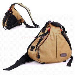 Wholesale Caden Bags - Caden K1 Khaki Fashion Casual DSLR Camera Bag Case Shoulder Messenger Bag For Nikon D90 D800 D700 D300S Canon 5d2 5d3