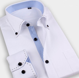Wholesale Men S Clothing Formal Dress - Wholesale-Camisa 2016 Hot Full Sales New Brand High Quality Men Clothing Shirts For Formal Dress Shirt Men's Long Sleeve S-3xl Wholesales