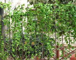 New Artificial Silk Plastic Wall Hanging Plant Vine Flower Rattan Craft  Ornament Supplies For Wedding Home Garden Decorations