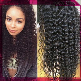 Wholesale Density Peruvian Hair - Natural Hairline Malaysian Lace Front Wigs 130% Density Deep Curly Glueless Full Lace Human Hair Wigs 130% Density Bleached Knots