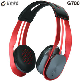 Wholesale Marshall Music - 1pcs 100% Original Syllable G700 Wireless Music Headphones NFC Bluetooth 4.0 Hi-Fi Headphones Headsets PK Marshall Major