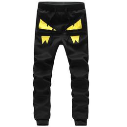 Wholesale Unique Mens Fashion - Wholesale-Mens Joggers 2016 Mew Men Brand Society Novelty Unique Demon pants Hip Hop Black Sweatpants Fashion Sport Trousers