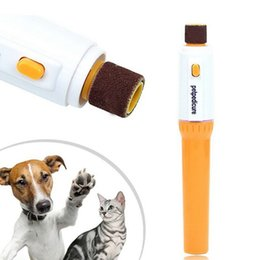 Wholesale Grinding Dog - Petpedicure Pet Nail Grooming Electric Pet Nail Trimmer Dog Cat Grinding Nail Tools Grinder Grooming Trimmer Clipper OOA2531