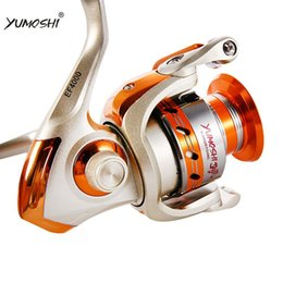 Wholesale Spinning Reel 12bb - YUMOSHI EF500-EF9000 SPINNING REELS BALL GEAR 12BB ALUMINIUM ALLOY LINE CUP AND ROCK ARM STURDY AND DURABLE FISHING REELS