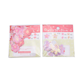 Wholesale Wholesale Wedding Albums - Wholesale- 40pcs set Plum Flower Cherry Blossoms Stationery Paper Stickers DIY Scrapbooking Wedding Album Photo Diary Book Art Decor