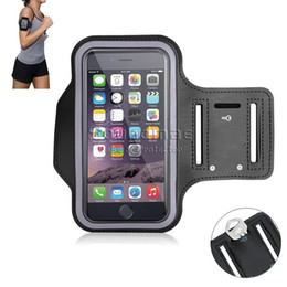 Wholesale Neoprene Armband Pouch - Universal Waterproof Sports Running Armband With Card Slots Key Holder For iphone 7 6 6s plus Samsung S7 S6 edge Arm Band Opp