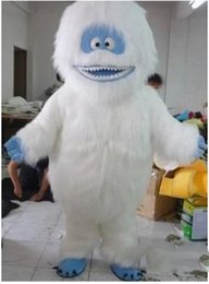 Wholesale Mascot Outfits - High quality White Snow Monster Mascot Costume Adult Abominable Snowman Monster Mascotte Outfit Suit Fancy Dress