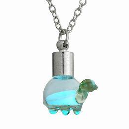 Wholesale Glow Turtles - Luminous Glass Necklaces Glow in the Dark Necklace Glow in the Dark Glass little turtle-shaped Pendant Neckace Glow in the Dark Jewelry 156