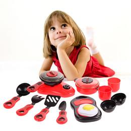 Vente en gros - Enfants bricolage cuisine jouets cadeau beauté cuisine cuisson jouet jeu de rôle jeu de jouets éducatifs jouets rose rouge FCI # ? partir de fabricateur