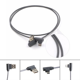 Wholesale Wholesale Bent Wire - Right Angle TYPE C Micro USB Braided Cable 2A Fast Charging Charger Cord 1M 2M 3M 90 Degree Bend Connector Wire DHL free CAB202