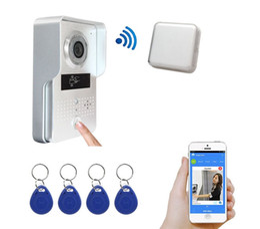 Wholesale Mini Wireless Door Camera - Wireless Wifi Door Bell System Intercom Camera With Mini Bell and 4 PCS ID Keyfobs Wireless Visual Video Door Phone Freeshipping