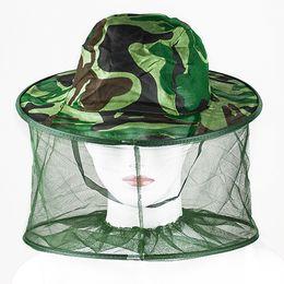 Wholesale Mosquito Cap - Wholesale-Mosquito Bug Insect Bee Resistance Sun Net Mesh Head Face Protect Hat Cap for Men Women 9GQJ