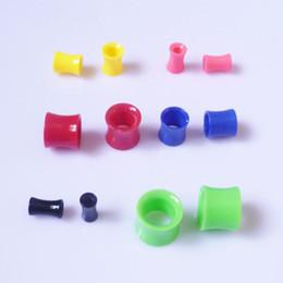 Wholesale 4mm Ear Tunnels - 4mm-26mm Ear Plugs And Tunnels,Mix Colors Acrylic Tunnels Ear Plugs Ear Expanders,Ear Gauges Piercings Body Jewelry For Women Men BJ701