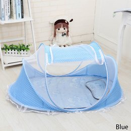 Wholesale Crib Bedding For Girls - Wholesale- Portable Baby Crib Mosquito Net Tent Multi-Function Cradle Bed Infant Foldable Mosquito Netting For Girls Bed