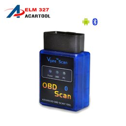 Wholesale Mazda Prices - Factory price! 2016 100% Vgate ELM 327 elm327 Bluetooth OBD Scan OBD-II Diagnostic Tool V2.1 Support Android and Symbian