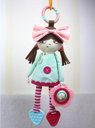 Wholesale Toy Baby Doll Strollers - New arrival Baby Plush Toy Lovely Rattle toy Girl doll Soft Crib Bed Stroller Cot car Hanging Educational Teether Rattles Toys