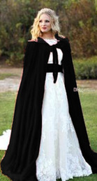 Wholesale Blue Satin Shrug - black Christmas Velvet Winter Bridal Cloaks With Women Wedding Jackets Wraps Coats Capes Shrugs Plus Size