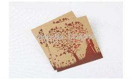 Wholesale Print Dvd - {10pcs} love tree Wedding CD bag printed white kraft paper CD envelope card box diy kraft dvd paper bag & sleeve free shipping