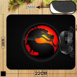 Wholesale Mouse Pads Gaming Logos - Wholesale-Free Shipping Mortal Kombat Logo Mouse Pad Laptop Computer Gaming Mouse Pad Gamer Accessories