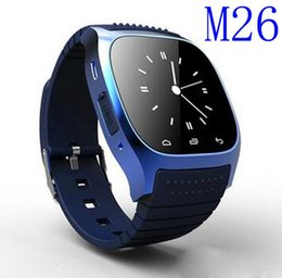 Wholesale Led Watch Android - Waterproof Smartwatches M26 Bluetooth Smart Watch With LED Alitmeter Music Player Pedometer For Apple IOS Android Smart Phone 1pcs Epacket