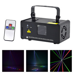 Wholesale Mini Laser Dmx - New IR Remote DMX 512 Mini 400mW RGB Full Color Laser Stage Lighting Scanner DJ Dance Party Show Projector Lights DM-RGB400