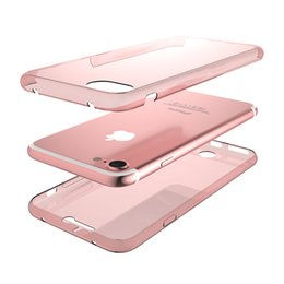 Cool iphone 5s telefon fall online-360 Grad Full Body Case für iPhone 7 7 plus 5 s 6 s 6 spsel klar weichen tpu schutz telefon fällen ultradünne cool zurück abdeckung fall