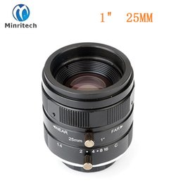 "Wholesale Mounts 25mm - Wholesale- 2017 Hot Camera Hd Super Low Distortion C Mount 1"" F1.4 25mm Fa Lens For Machine Vision"