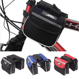 Wholesale Mtb Frame Bag Pannier - 3 Colors New Cycling Mountain Road MTB Bicycle Bike Frame Saddle Bag Pannier Front Tube Bags Double Sides for Outdoor Traveling
