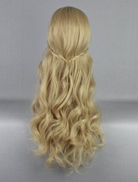 Wholesale Blonde Lolita - 100% Free shipping New High Quality Fashion Picture full lace wigs>>Aurora Princess Blonde Wavy Lolita Chlidren Cosplay Full Wig