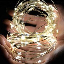 2019 luces de navidad seguras Semilla del partido Iluminación led Luces de jarrón de vid Boda Alambre de cobre Cadena Luz 200 cm 20 LEDs Impermeable de Navidad Hallowen accesorios de decoración regalo