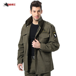 Wholesale M65 Coat - Wholesale- FREEKNIGHT Outdoor Hiking M65 Coat Jacket Coat Male Fans Removable Liner Winter Cotton Hunting Tactical Clothes