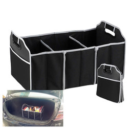 Wholesale Trunk Organiser - Foldable Car Organizer Boot Stuff Food Storage Bags Bag Case Box trunk organiser Automobile Stowing Tidying Interior Accessories Collapsible