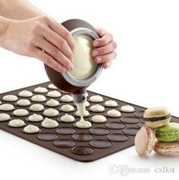 Wholesale Macaroons Mat - Silicone Macaron Macaroon Pastry Oven Baking Mould Sheet Mat DIY Mold 30-cavity Brand New Good Quality Free Shipping