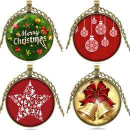 Brand new albero di natale stile ciondolo collana di gioielli in vetro cabochon con ottone antico catena collana gioielli per regalo da albero di natale di ottone fornitori