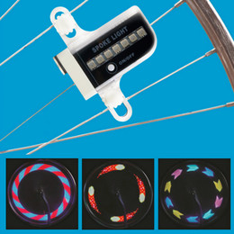 Wholesale Free Motorcycle Wheel - Gofuly 14 LED Motorcycle Cycling Bicycle Bike Wheel Signal Tire Spoke Light 30 Changes 3 Modes Bicycle Spoke Light free shipping