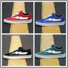 Wholesale Womens Leisure Shoes - 2017 REVENGE x STORM Old Skool Kanye Low Mens womens Canvas Shoes Skateboarding Shoes Kendall fashion Casual Shoes sneakers eur 36-44