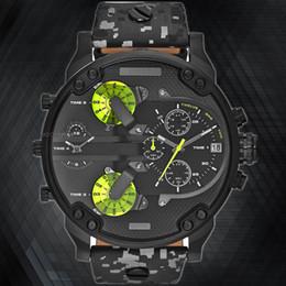 Wholesale Dz Watches - 2017 Luxury brand DZ Men Watches montre Leather Strap Quartz Watch reloj hombre Military Sports Male Clock relogio For Men