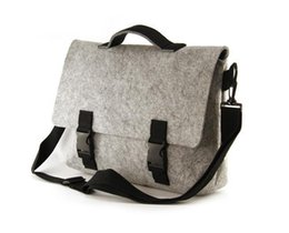 Wholesale Felt Laptop Cover - Felt bag cover type leisure men's bags His shoulder laptop briefcase messenger bag drop shipping Can be customized adding logo