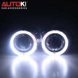 Wholesale Hid Projector Headlight Kit - Free Shipping 2.5 inches Mini HID Bi xenon Projector Lens Xenon Bulb 4300K-8000K Ballast LED Angel Eye for Car Headlight Kit