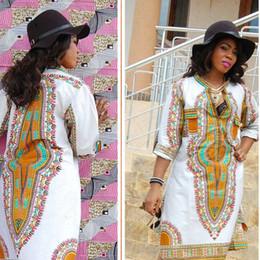 Wholesale Traditional Design Dresses - Autumn Fashion Africa Clothing Dashiki Dresses Womens African Clothing Traditional Print Fashion Design African Bazin T-shirt