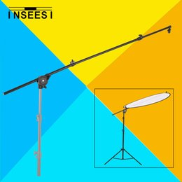 """Wholesale Photo Clamp Clip - Wholesale- 26""""-69"""" Photo Studio Photography Reflector Diffuser Holder Stand Boom Arm Support & Clip Flexible Swivel Grip Head Clamp"""
