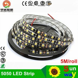 Wholesale Wholesale Black Light Leds - 100m Led Strip Black PCB 5050 RGB Light Strips 12V Waterproof Non-Waterproof 5M 300 LEDs 5m roll DHL Free Shipping