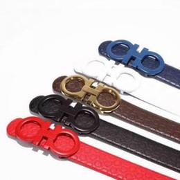 Wholesale Formal Men Fashion - 2018 F Big large buckle genuine leather belt with box designer men belts women high quality new luxury brand belt free shipping