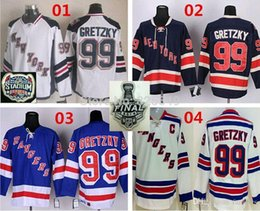 Wholesale cheap stitched jerseys china - Cheap New York Rangers 99 Wayne Gretzky Hockey Jersey,Home Blue Road White Alternate Third Black Stitched ersey,From China
